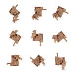 One bar sculpture - 9 positions