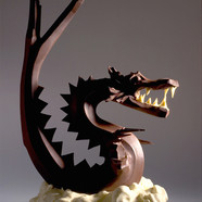 """Luck dragon"" Hand-carved in chocolate"