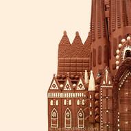 """""""La Sagrada familia"""" in chocolate-details"""