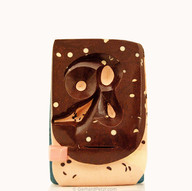 """""""Composition III"""" (2009) abstract, modern chocolate sculpture"""