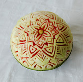 Carved water melon dome
