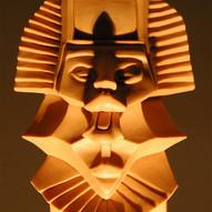 'Inca head' chocolate sculpture