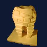 "Chocolate sculpture ""Caries"""