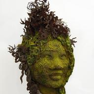 """Barkhead"" (2013) bust with dark chocolate decoration"