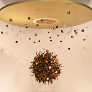 Chocolate Universe details and hanging objects