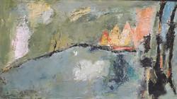 Landscape, technique mixte, 25x46 cm
