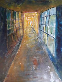 Couloir, huile sur toile, 54x65 cm