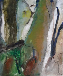 Trees, huile sur toile, 65x54 cm