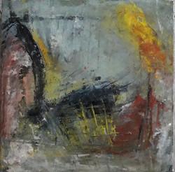Lueur II, huile sur toile, 20x20 cm