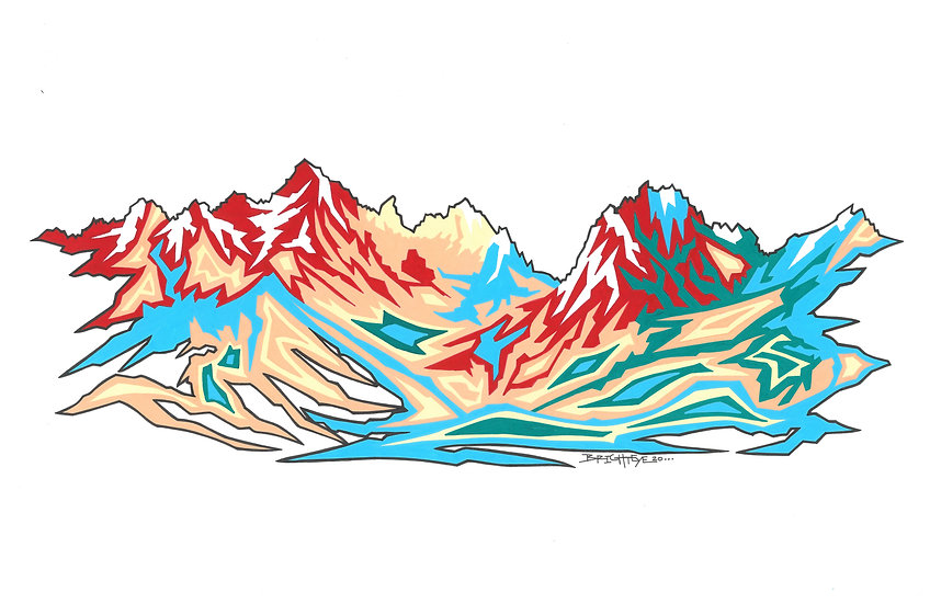 Sawtooth Edition One - PNW Series Open Edition Print