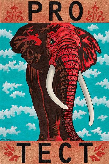 PRO-TECT Elephants - Open Edition Print