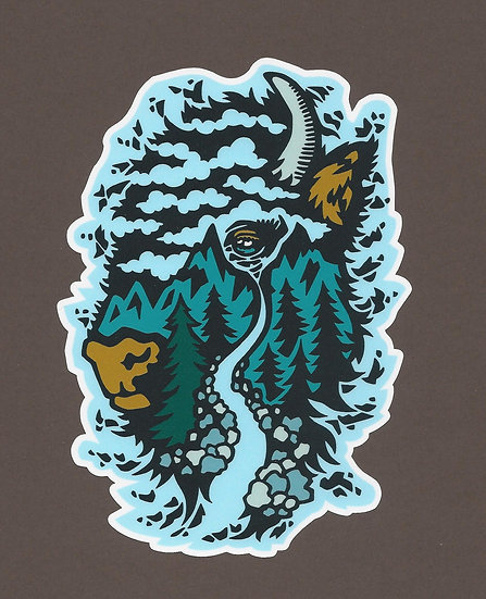 Buffalo Adventure Sticker - Large