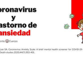 Coronavirus y trastorno de ansiedad
