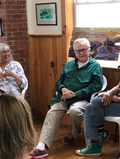 Joan, David, Marty Art Talk 2019