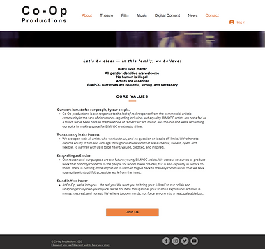Co-Op Core Values