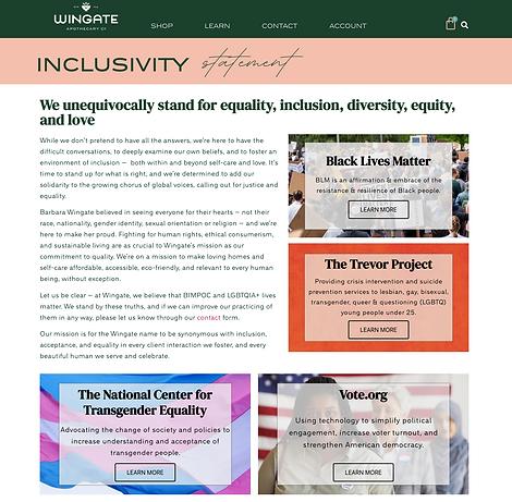 Wingate Inclusivity