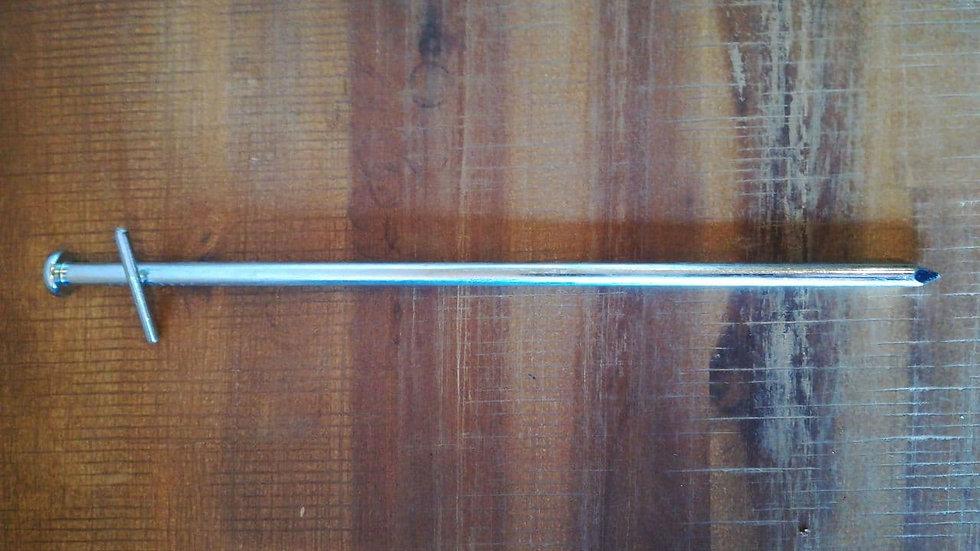 Erdnagel rund aus verzinktem Stahl