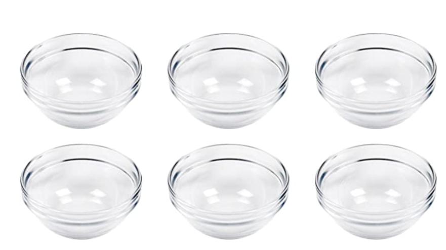 Dipp-Schälchen, Glas, stapelbar, Ø 6 cm, klar (6er Pack)