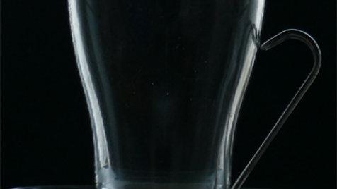 Teeglas, Trinkglas mit Metallgriff