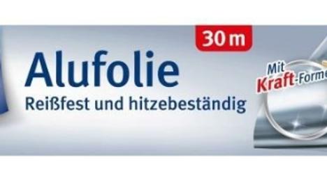 Toppits Alufolie 30m / Reißfest und hitzebeständig / Mit Kraft-Formel