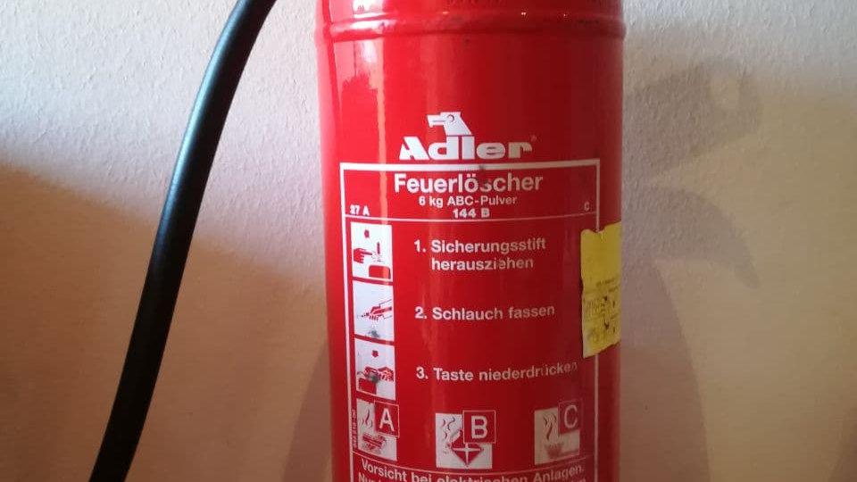 Adler Feuerlöscher | 6 kg ABC Pulverlöscher
