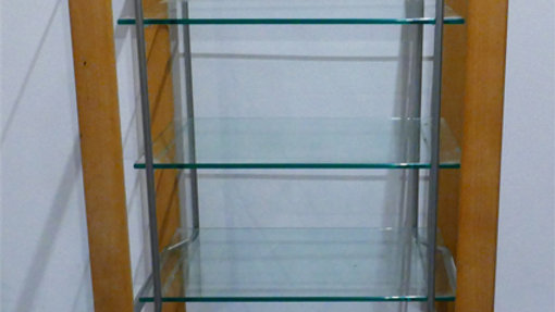 Glasregal 64x50x112   Regal, Stellage, Kasten;