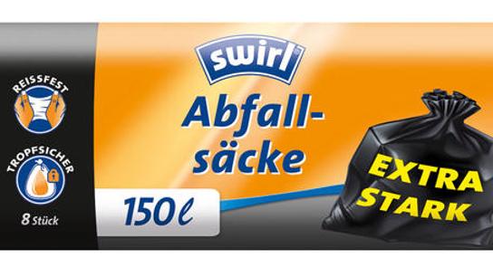 swirl Abfallsäcke, Müllsäcke, EXTRA STARK (150l)