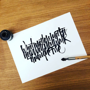 QUOTE | Ruling Penn Calligraphy