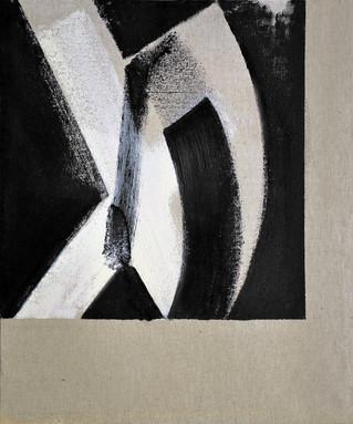Méfiance, 2020, huile s. toile, 55x46cm.