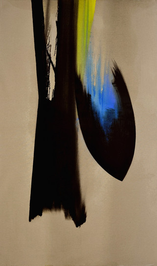 Vitesse, 2020, huile s. toile, 250x150 c