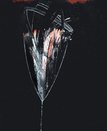 Soupçon, 2013, huile s. toile, 61x50cm..