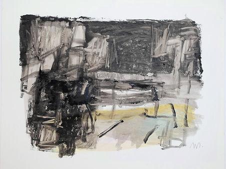 B2 2019,encre de gravure sur papier 30 x