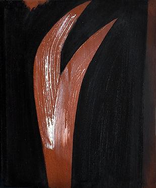 Griffes, 2013, huile s. toile, 55x46cm..