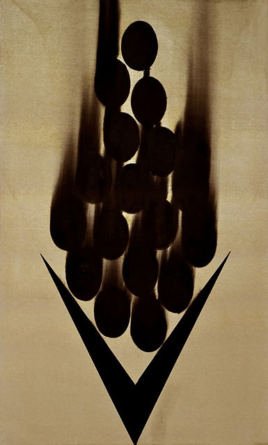 6-Chute, 2020, huile s. toile, 250x150 c