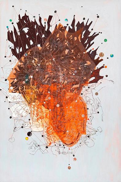 Sans titre, 2011, huile sur toile, 195 x