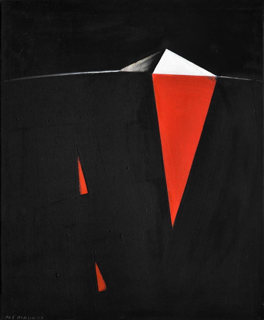 Pyramide blanche, 2008, huile s. toile,
