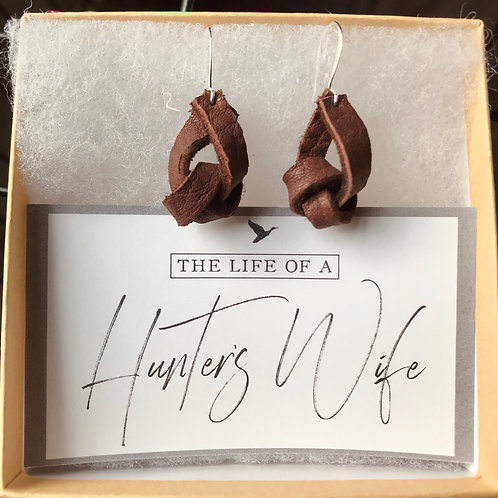 Deer Leather Knotted Earrings