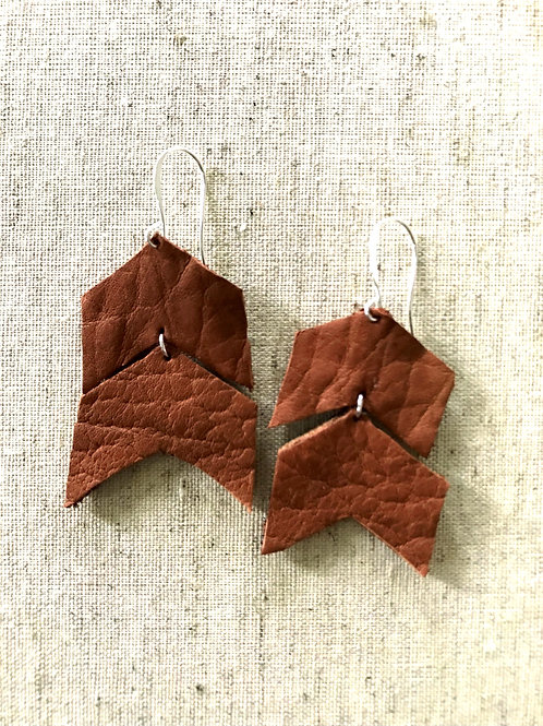 Arrow Leather Earrings