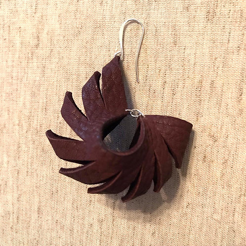 Sculpted Leather Earrings - Style 4