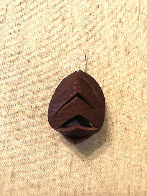 Sculpted Leather Earrings - Style 2