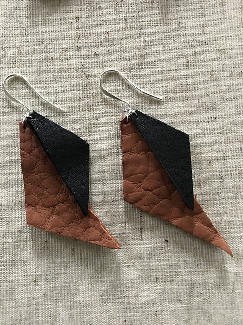 Triangle Leather Earrings - Style 2