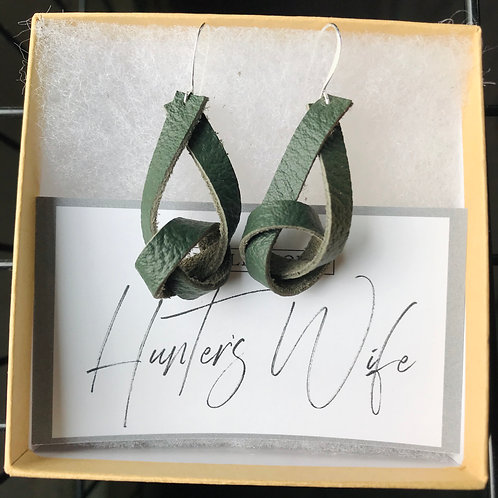 Cow Leather Knotted Earrings