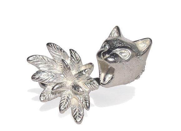 HUNGRY 猫と花のリング