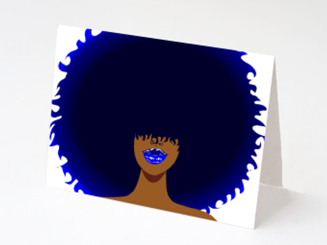 Blue Fro - Notecard