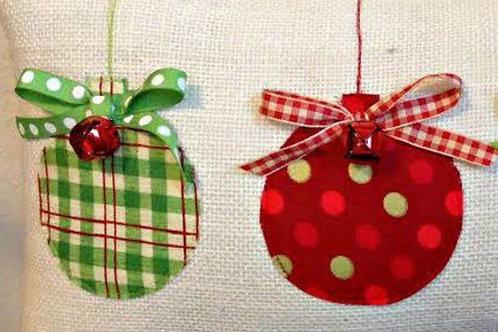 Embellished Pillow (Christmas)