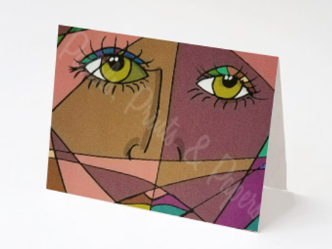 Cube Face Woman
