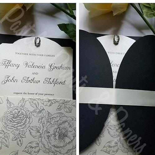 Cream Rose Invite