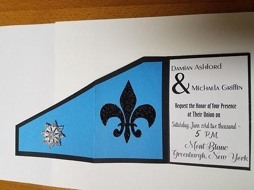 Embellished Wedding Invite