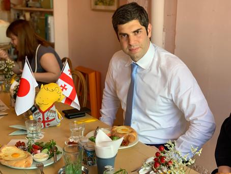 在日ジョージア大使館のティムラズ大使が来てくれました