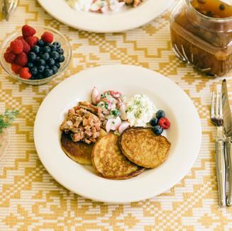 Lithuanian breakfast